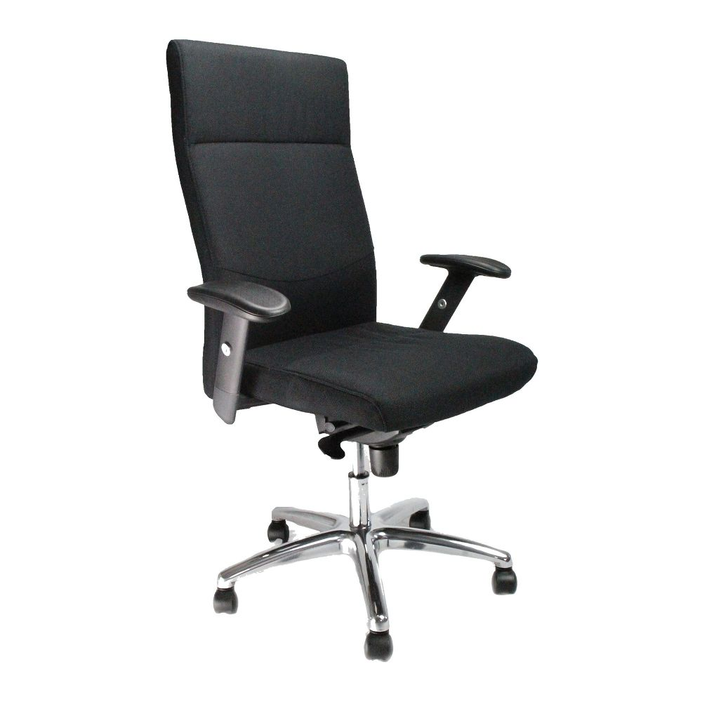 Jester High Back, Executive Synchro Armchair, Chrome Base. Black, Blue or Red Chair